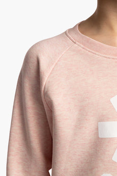 Deshi Sweater White Star - Cream Heather Pink