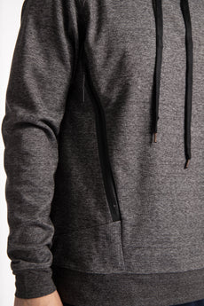 Men Techleisure Hoodie - Black Melange