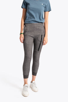Women Techleisure Pant - Black Melange