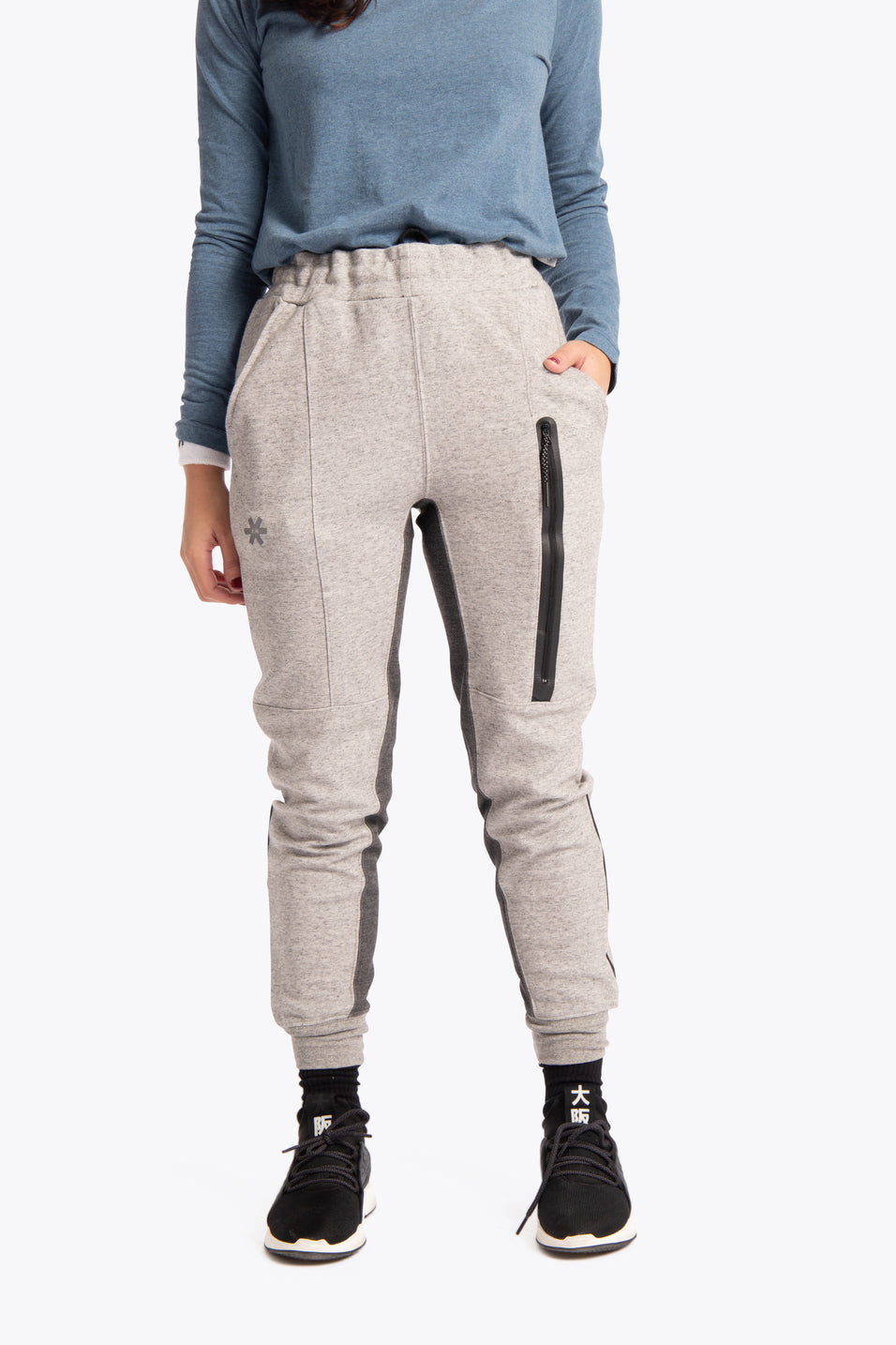 Women Techleisure Pant - Grey Melange