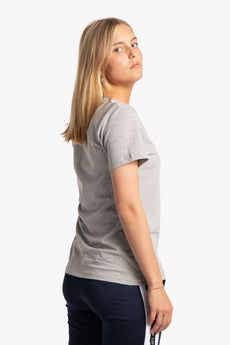 Women Tee Black Star - Grey Melange