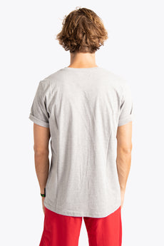 Men Tee Brush Strokes - Grey Melange