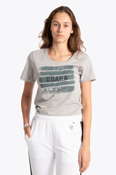 Women Tee Brush Strokes - Grey Melange
