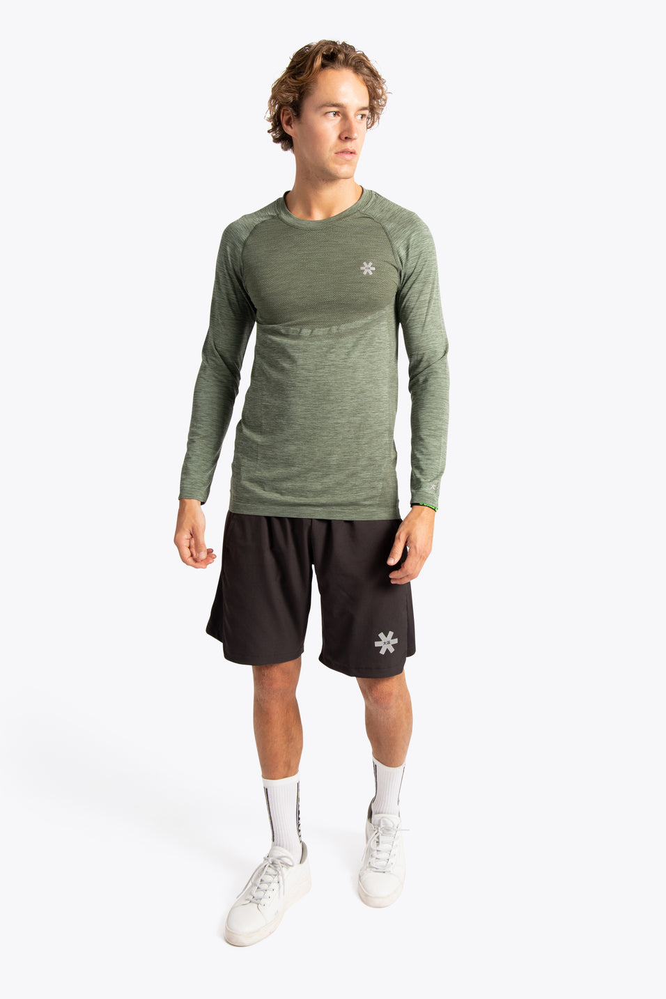 Men Tech Knit Tee Long - Green Melange