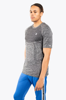 Men Tech Knit Tee Short - Black Melange