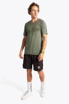 Men Tech Knit Tee Short - Green Melange