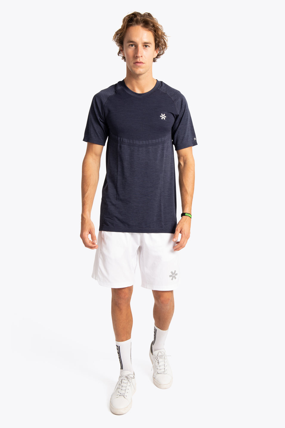 Men Tech Knit Tee Short - Navy Melange