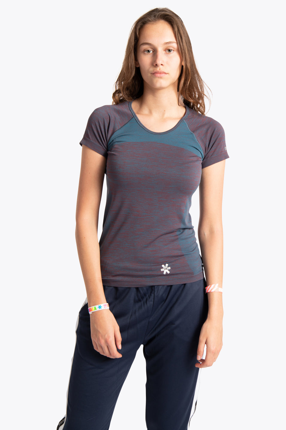 Women Tech Knit Tee Short - Teal Melange