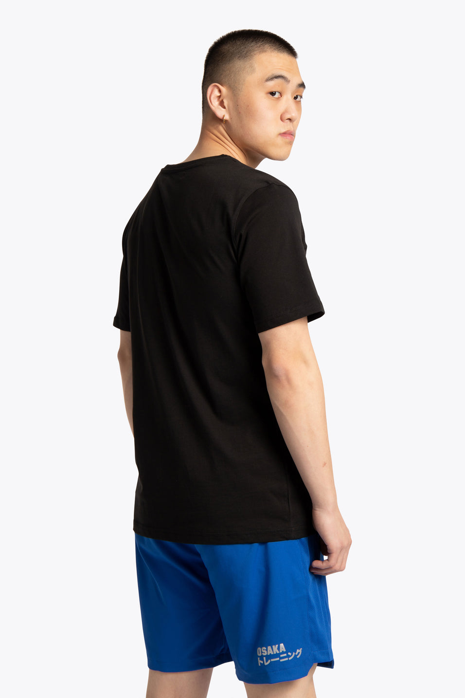 Men Tee White Star - Black
