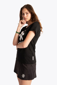 Women Tee White Star - Black