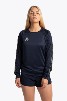 Women training sweater blue