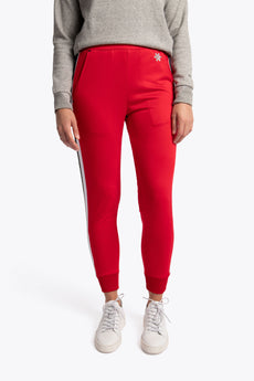 Osaka training sweatpants red women