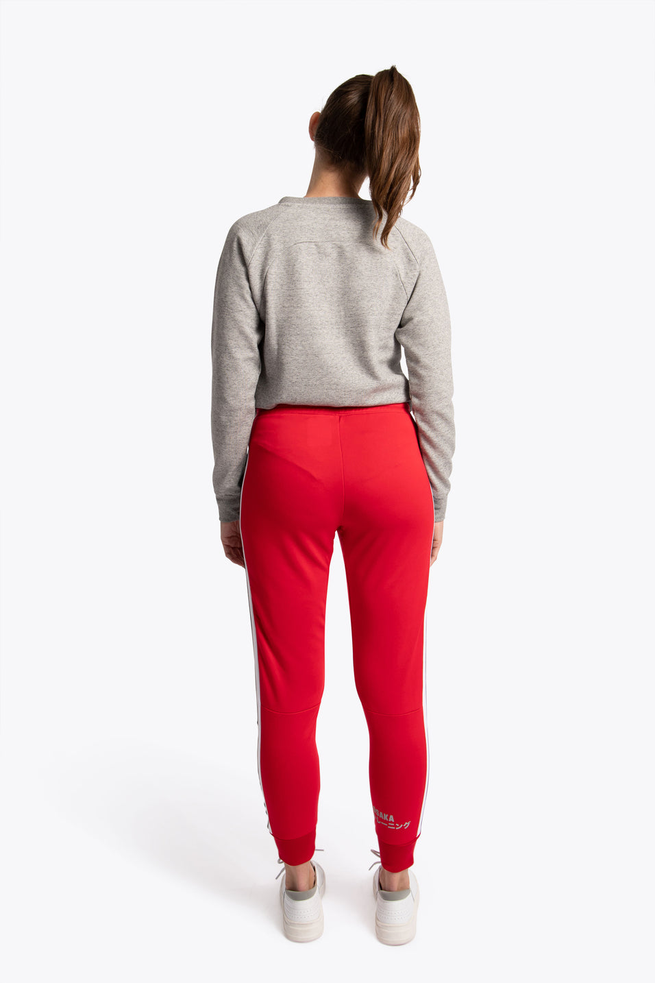 women joggers in red