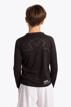 Boys training tee black long sleeve