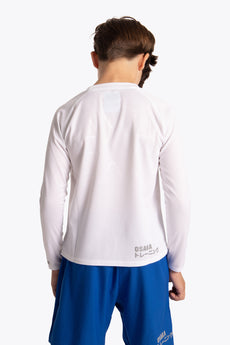 Deshi Training Tee Long Sleeve - White