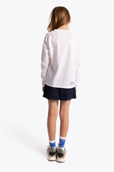 Osaka Kids Training Tee Long Sleeve - White