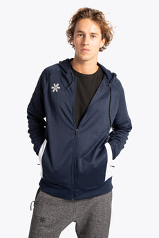 Osaka men training zip hoodie navy