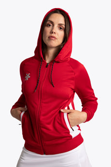 Women Training Zip Hoodie - Red