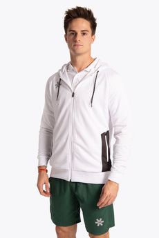 Osaka men training zip hoodie white