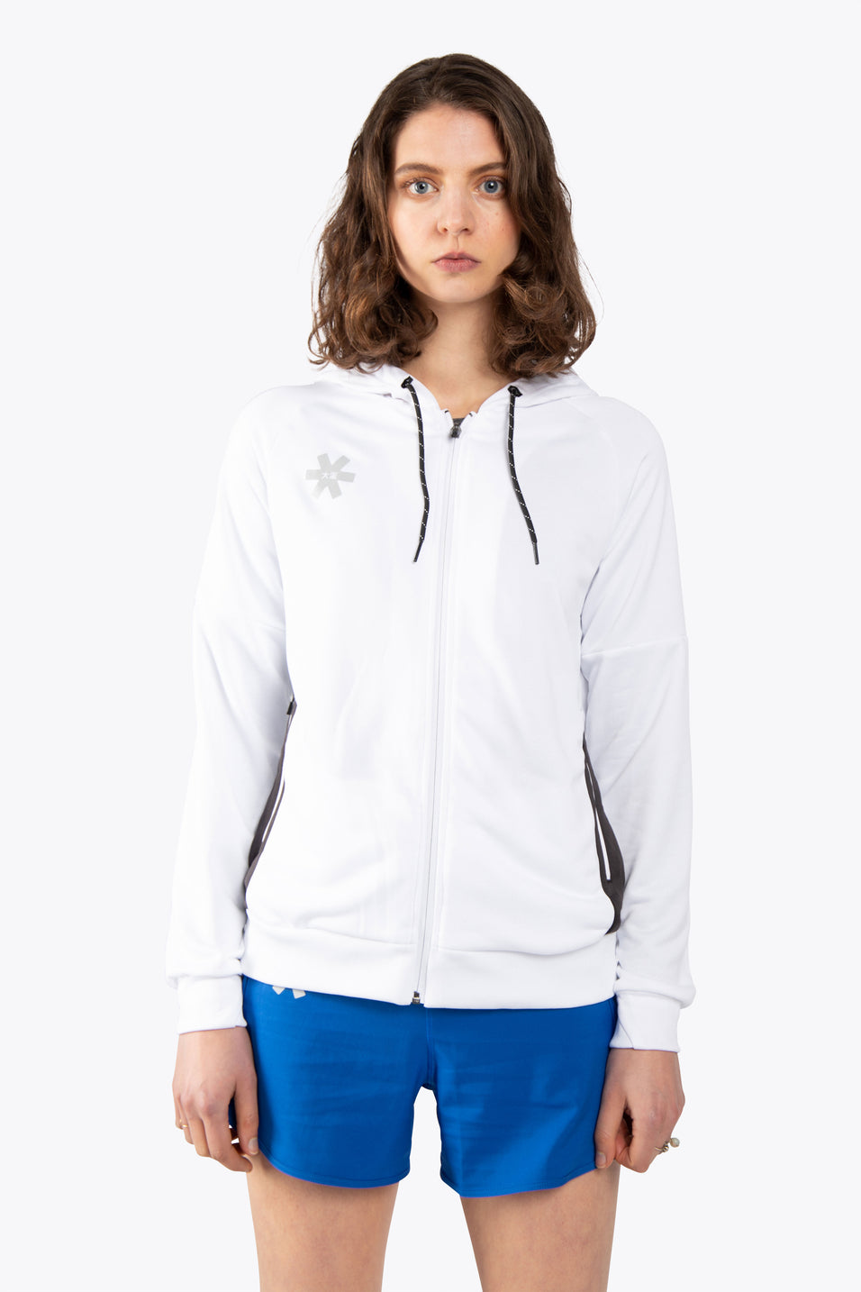 Women Training Zip Hoodie - White