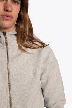 Men Tech Fleece Zip Hoodie - Grey Melange