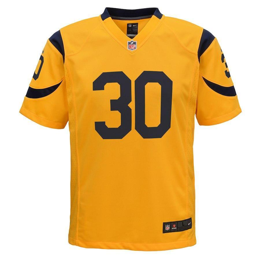 cheap for discount 8032e 887a6 TODD GURLEY II LOS ANGELES RAMS SUPER BOWL YOUTH COLOR RUSH GAME JERSEY -  GOLD 2018/2019