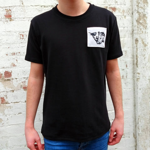 BLACK R+R SIGNATURE TEE (MADE TO ORDER)