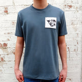 DEEP GREY R+R SIGNATURE TEE (MADE TO ORDER)