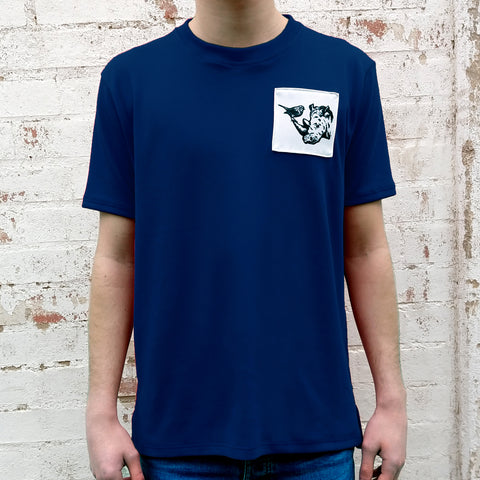 NAVY R+R SIGNATURE TEE (MADE TO ORDER)