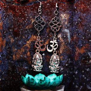 OM Shri Ganesha Earrings