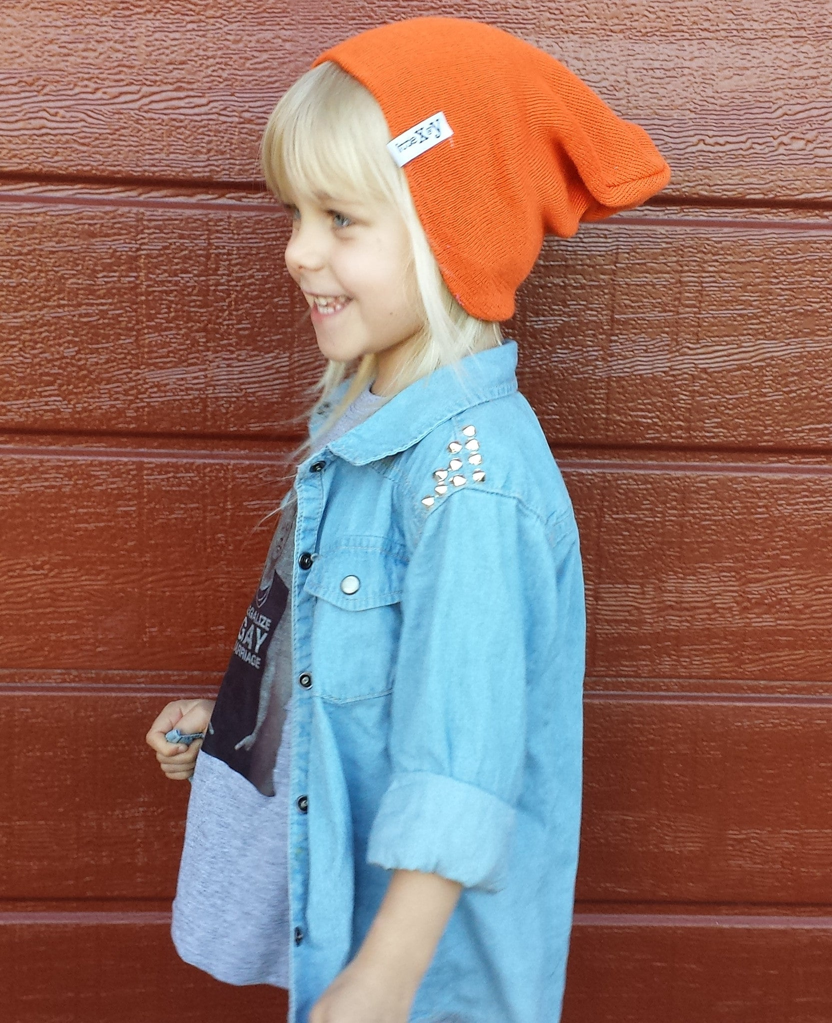 Little x&y ORANGE BEANIES