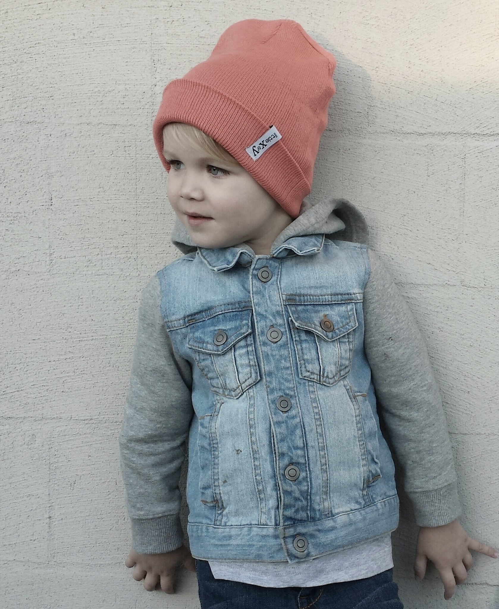 little x&y CORAL BEANIES