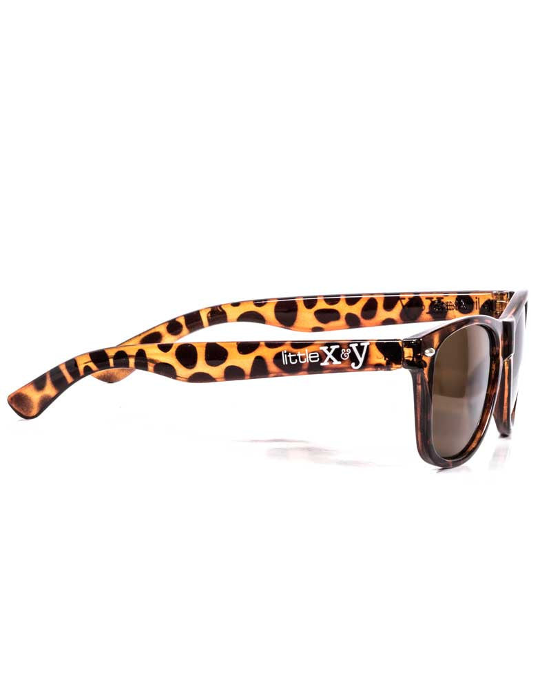 Little x&y TORTOISE SHELL WAYFARER SUNNIES