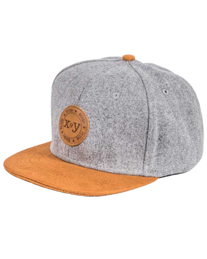 Special Edition: GREY/TAN FLATBRIM SNAPBACK HAT
