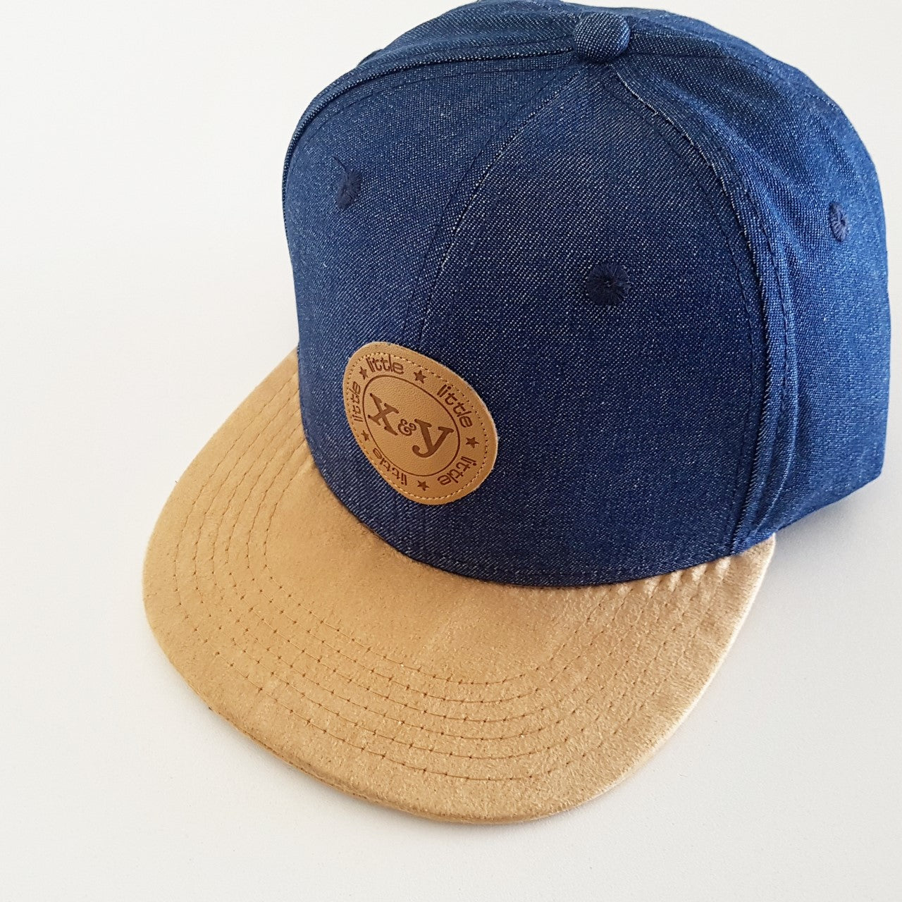 Special Edition: DENIM/LIGHT TAN FLATBRIM SNAPBACK HAT