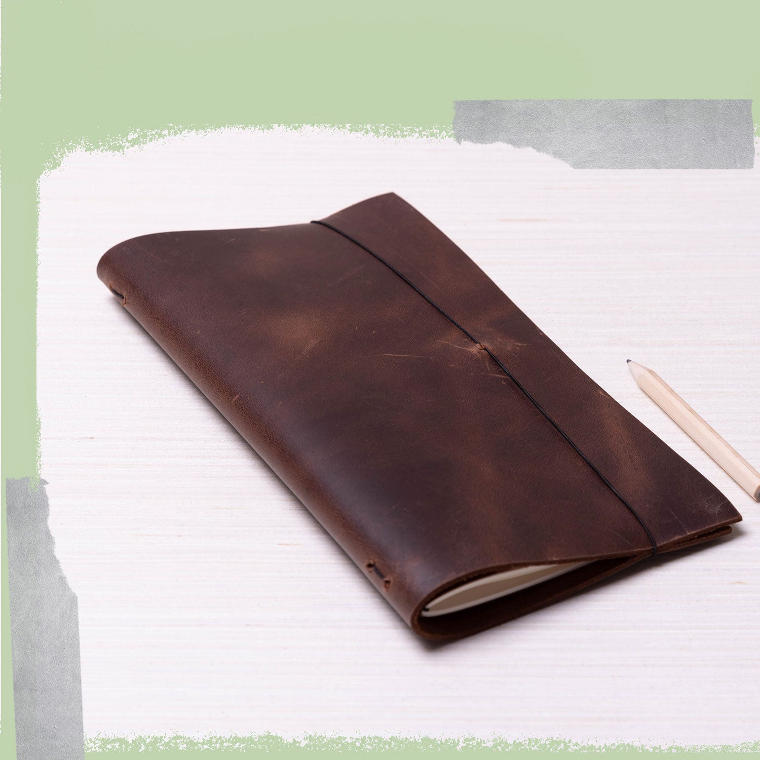 DIY Leather-Bound Journal