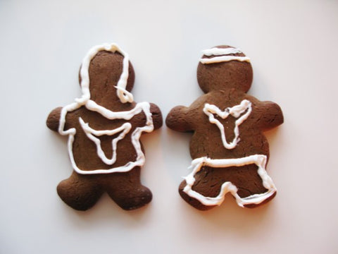 Two gingerbread men.