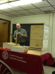 George teaching a beekeeping class.