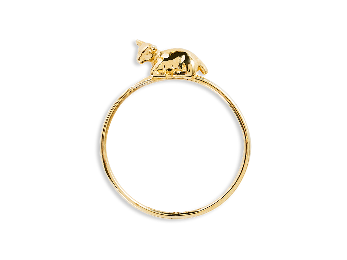 """Sophie"" Baby Goat Ring - Beekman 1802"