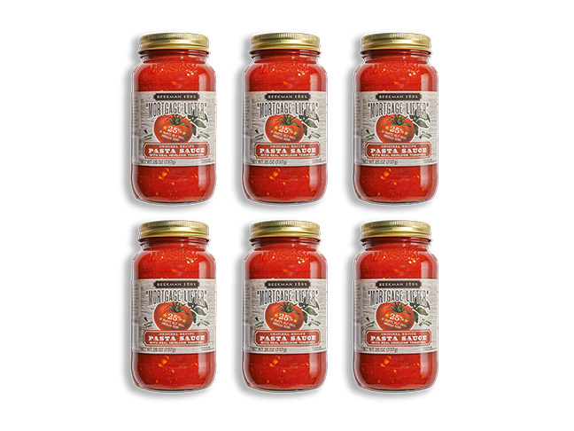 """Mortgage Lifter"" Pasta Sauce 6-pack - Beekman 1802"