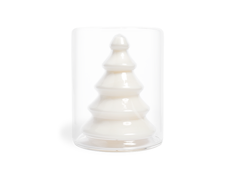 Snow Forest Glass Tree Candle