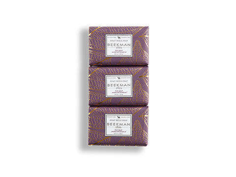 Fig Leaf 3.5 oz 3-Pack Bar Soaps - Beekman 1802