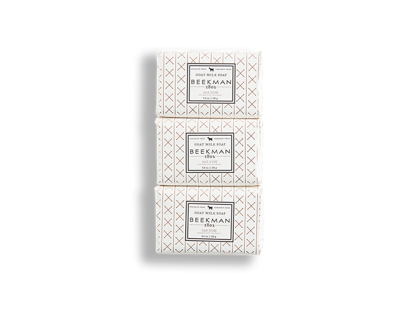 Oak Moss 3.5 oz 3-Pack Bar Soaps - Beekman 1802