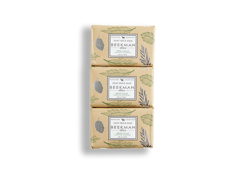 Sweet Grass 3.5 oz 3-Pack Bar Soap - Beekman 1802