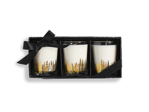 Snow Forest Votive Candle Set