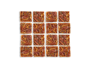 Bourbon Maple Glazed Pecan Pie Bars