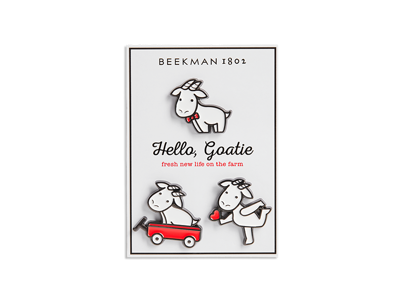 """Hello, Goatie"" Pin Set"