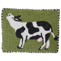 Lowing Cow Hooked Lilac Lemongrass Buckwheat Pillow