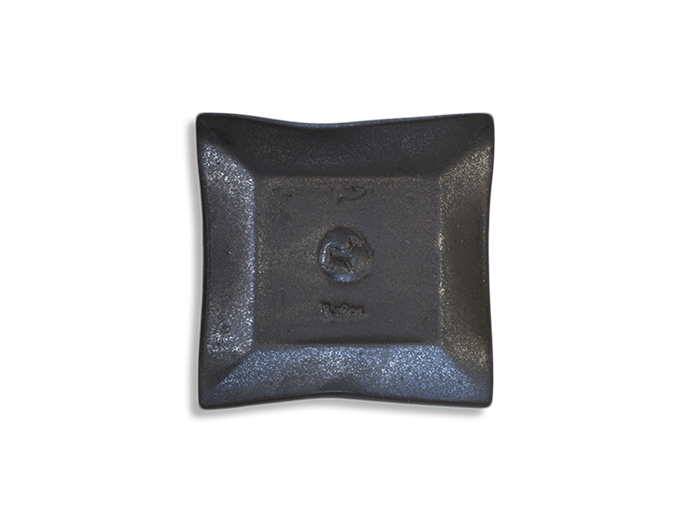 Gunmetal Black Ceramic Goat Soap Dish