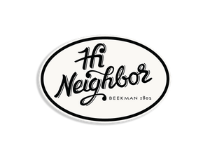 """Hi Neighbor"" Car Decal - Beekman 1802"